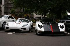Pagani & Koenigsegg (Marcinek_55) Tags: fab london sport bristol design grand ferrari mclaren cinque mp4 zonda koenigsegg supercars veyron brabus supersport hamann maybach pagani agera xenatec