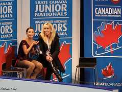 Delmaestro in the Kiss & Cry (Melanie Heaney) Tags: ladies sports action coaching figureskating kissandcry 2011canadians briannadelmaestro kellylynnchampagne