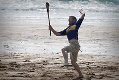 Beach Puck Around #2 (Yellabelly*) Tags: ireland irish beach jump hurling picnik hurl spanishpoint countyclare highcatch