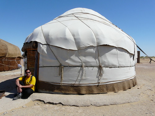 En una yurta de Ayaz-Qala