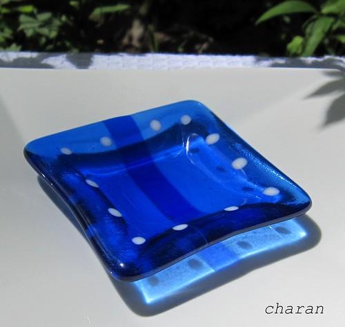 豆皿(四角) 8x8cm 2011.7.12 by Poran111