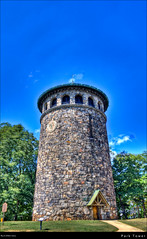 Park Tower (Western Maryland Photography) Tags: park tower stone watertower historic delaware wilmington hdr highdynamicrange rockfordpark publicplace lookoutdrive canont1i