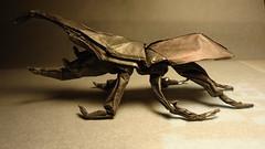 Robert Lang's Hercules Beetle (Jophish126) Tags: robert paper model origami hand handmade foil tissue beetle made fold lang hercules folding