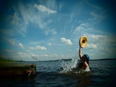 catcher in the lake (Lalallallala) Tags: summer lake holiday suomi finland countryside friend summerhouse mökki summercottage savo savolax nilsiä haluna mökkeily suurpieksä easternfinland itäsuomi