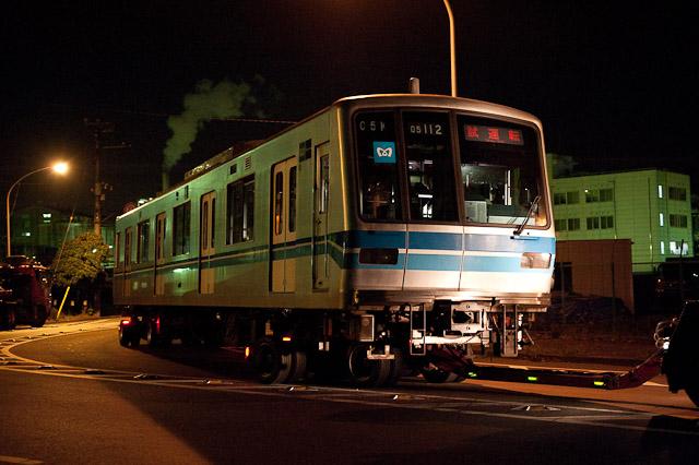 東京メトロ東西線05系 05-112F 05-112 05-212 川崎市営埠頭へ陸送