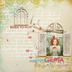 born to play 'Gileta' (ania-maria) Tags: flowers portrait girl scrapbooking layout friend princess lo prima scrap primamarketing aniamaria gileta