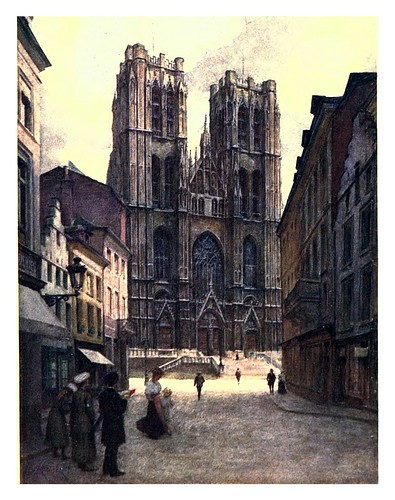 001-Bruselas catedral de Santa Gudule-Belgium 1908- Amédée Forestier
