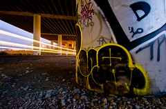 MQ (TheHarshTruthOfTheCameraEye) Tags: light night graffiti caltrain san francisco long exposure shot trails mq bbb dms mkue mque