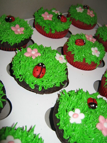 Lady Bug cupcakes by Cake Maniac