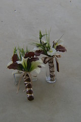 RBH Bridal Bouquet & Toss (elitedesignsbydaphne) Tags: brown ivory bamboo zen bouquet bridal callalily boutonniere chocolatecallalily
