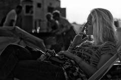 smoking (Winfried Veil) Tags: leica party portrait blackandwhite bw music woman girl monochrome festival backlight 50mm cigarette soccer smoke profile rangefinder portrt smoking sw melt musik frau summilux asph mdchen tabletop ferropolis backlighting profil gegenlicht rauch zigarette m9 rauchen 2011 tischfussball schwarzweis tabletopfootball grfenhainichen rauchend tabletopsoccer meltfestival messsucher mobilew leicam9 winfriedveil
