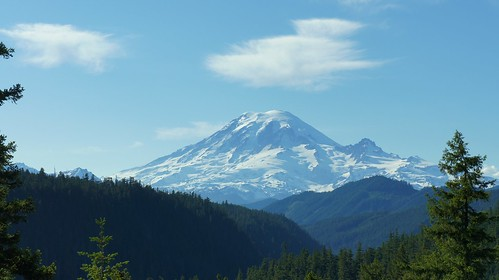 Mt. Rainier from Highway 12 passed White Pass.