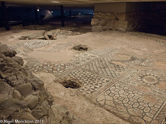 Roman remains at beneath Geneva Cathedral