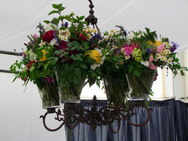 Flower chandelier