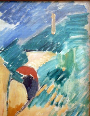 Braque, Viaduct at L'Estaque with detail of drip