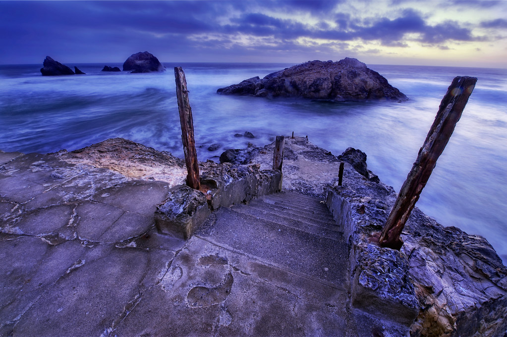 Where the sidewalk ends, the Sutro Baths