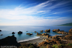 (nodie26) Tags: ocean blue sea color water rock canon long tour slow taiwan oceans     taitung           40d    memomotion