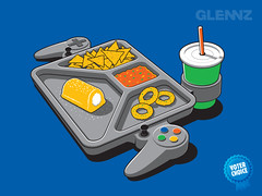 Continuous Gaming T-shirt (Glennz Tees) Tags: art nerd fashion illustration design funny geek drawing humor cartoon tshirt gaming gamer tray illustrator twinkie draw popculture tee vector ai apparel adobeillustrator glenz glennjones glenjones glennz gleenz glennnz