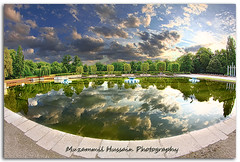 Battersea Park (Muzammil (Moz)) Tags: uk lake london reflections fisheye wandsworth moz batterseapark muzammilhussain