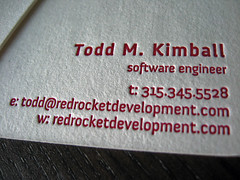 Red Rocket Letterpress Business Cards