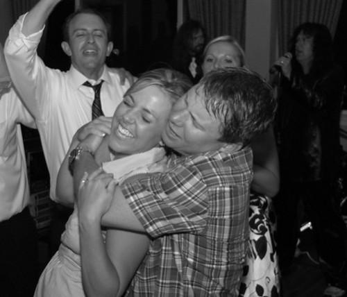 Sean hugging Sarah