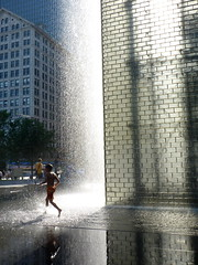 Late afternoon, Crown Fountain (yooperann) Tags: park chicago millennium chicagoist