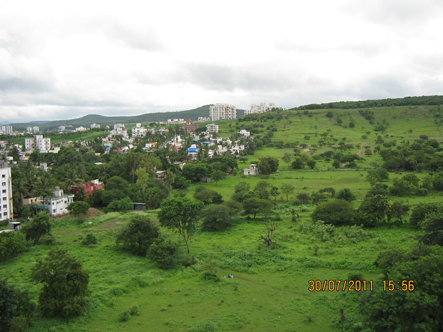 "View from Ready Possession Flat No. J 1001 in Pethkar Projects' ""Balwantpuram Samrajya"", at Shivtirthnagar, Paud Road, Kothrud - Pune 411 038"