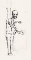 Liverpool Ward (Jim_V) Tags: portrait pencil ink hospital sketch drawing terminal dippen nibpen