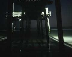 Avalon NJ Pier (ZacharyMartinez) Tags: ocean longexposure beach pier sand moonlight fujifilm 65mm provia100 avalonnj mamaiya7