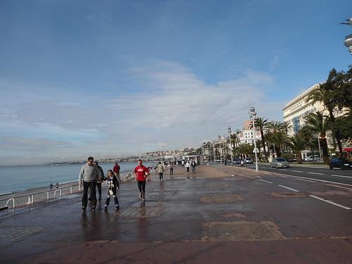 Patinando, Paseo de los Ingleses, Niza 2011, Francia/Rollerblading, Promenade Des Anglais, Nice' 11, France - www.meEncantaViajar.com by javierdoren