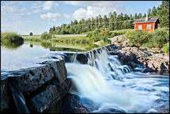 Beautiful Summer day [Expolored] (Aspiriini) Tags: water rapids nd400 koski lieto nautelankoski jonilehto aspiriini longexposuration