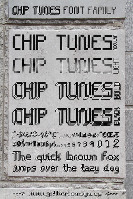 Chip Tunes Font Family by PistoCasero