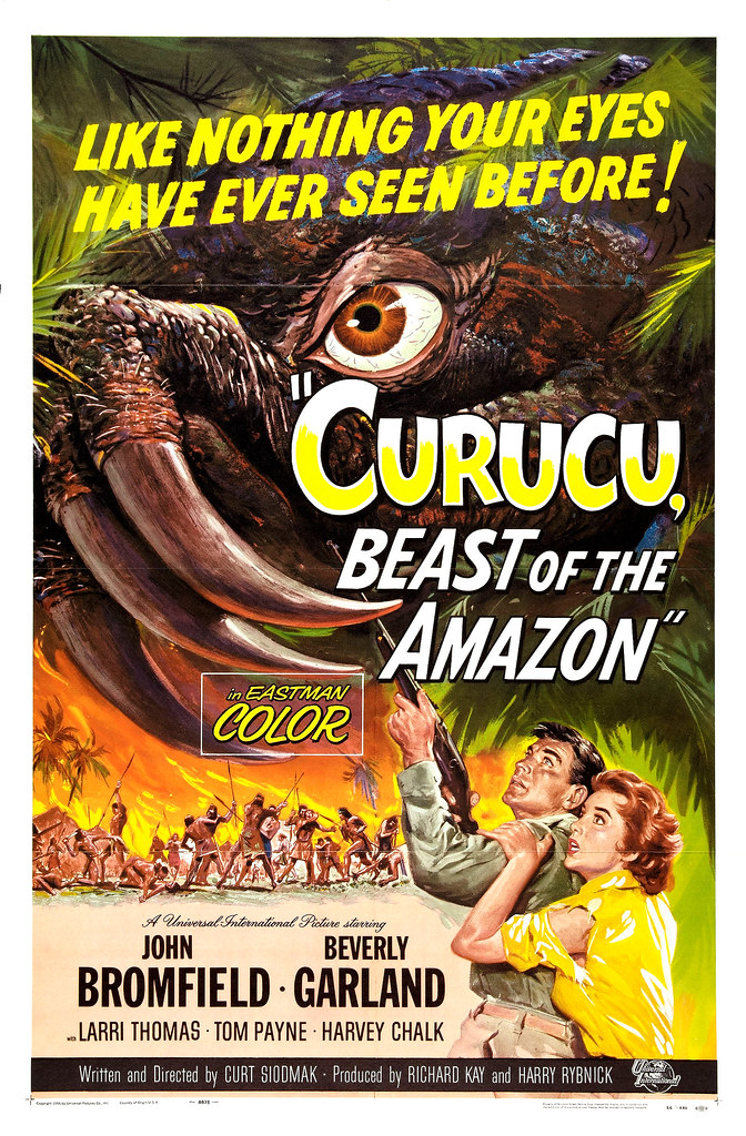 Reynold Brown - Curucu, Beast of the Amazon (Universal International, 1956).