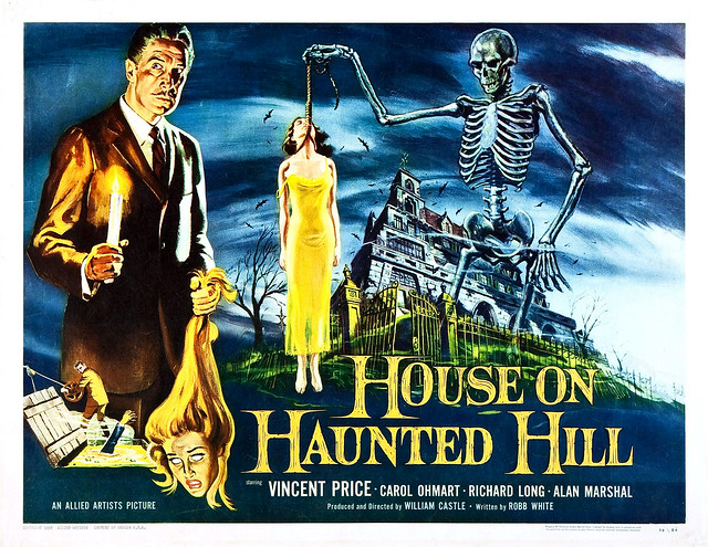 Reynold Brown - House on Haunted Hill (Allied Artists, 1959) half sheet
