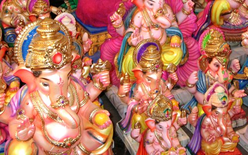 The making of Ganesh idols in Mapusa