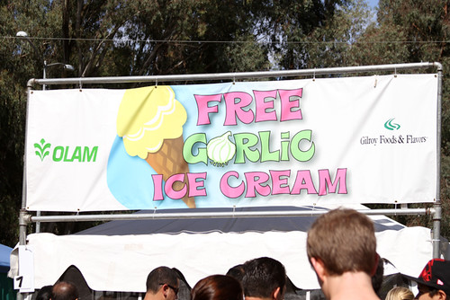 garlic ice cream