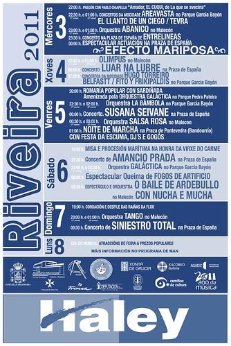 Ribeira 2011 - Festas do Verán - cartel (2)