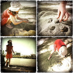 Day 218: 6 August 2011 (chesterr) Tags: sandcastle iphone day218 6811 diptic i365 southbankbrisbane day218365 hipstamatic 3652011 filmkodotxgrizzled 365the2011edition lenslibatique73