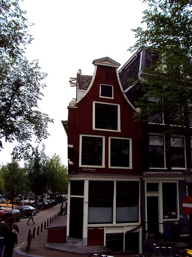 Designs of the facade of houses in Amsterdam