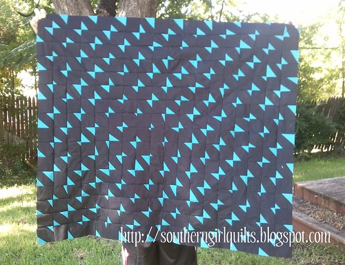 Blue Bow Quilt Top