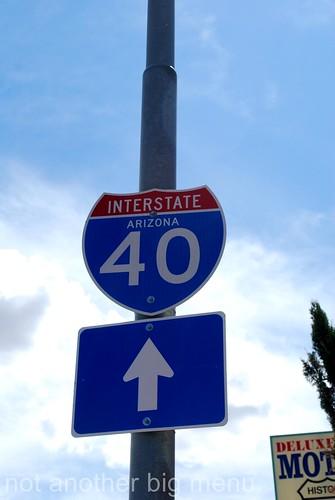 Las Vegas, Nevada - Route 66 signs - Interstate Arizona 40