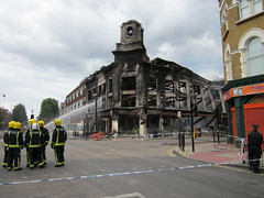 Firefighters - High Road Tottenham & Lansdowne Road by Alan Stanton