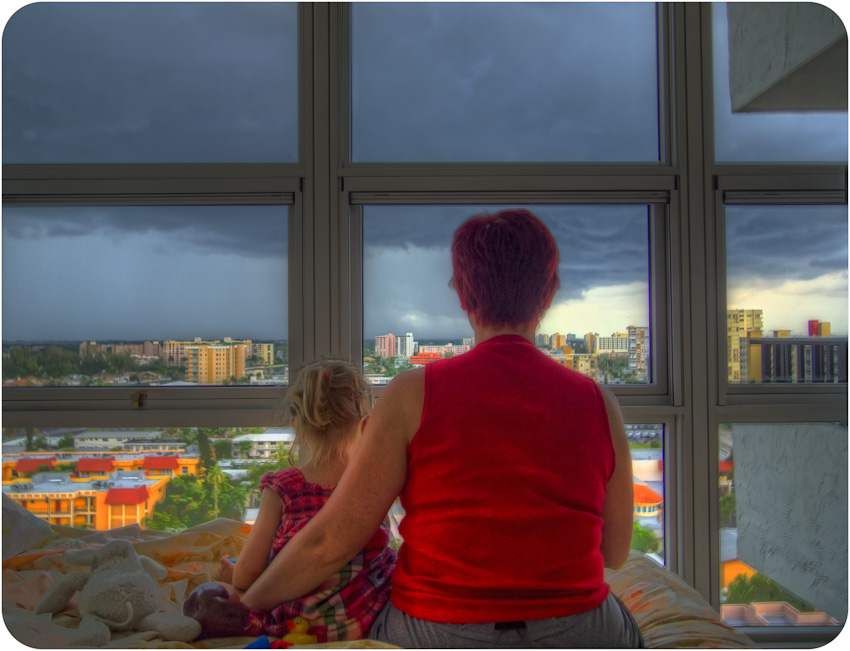 Looking at the storm