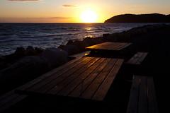 Sunset (Hkan Dahlstrm) Tags: sunset table wooden skne sweden f11 skane kattegat kullaberg 2011 mlle ef1740mmf4lusm canoneos5dmarkii molle sek