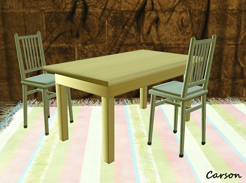 ROSEHAVEN DESIGNS - Animated Chairs, Table and Rug