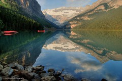reflections of a great summer (Rex Montalban) Tags: canada reflections alberta lakelouise hdr banffnationalpark photomatix rexmontalbanphotography