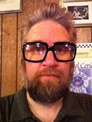 Fuzzy in Frontalot glasses