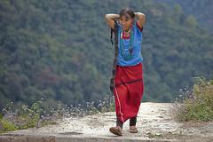 Arunachal Pradesh : Row, Adi Bori tribe #2 (foto_morgana) Tags: portrait people india necklace asia tribal row tribes adi ethnic minority minorities traditionalclothing arunachalpradesh indigenoustribes westsiang adibori
