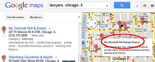 Google Maps tooltip title display error