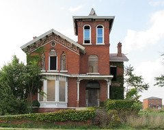 227 adelaide, Detroit (southofbloor) Tags: park house building tower abandoned architecture square detroit brush adelaide mansion derelict turret finial italianate